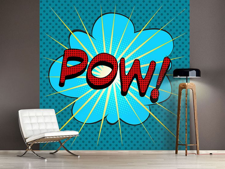 11 besten fototapeten popart comic bilder auf pinterest pop art einfach und fototapete. Black Bedroom Furniture Sets. Home Design Ideas