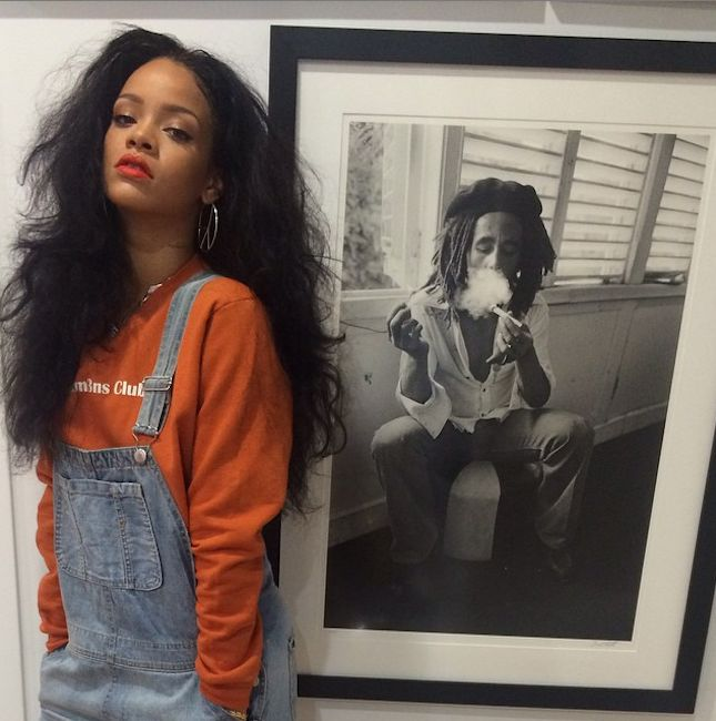 This Rihanna News Is Bigger Than Her BBHMM Music Video via Brit + Co.--posting for all the wrong reasons but i LOVE the idea of hanging a larger than life photo of bob marley, and you can't go wrong with black and white..