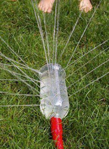 DIY Upccling Plastikflasche = Rasensprenger I Bewässerung Wiese I Anschluss an Gartenschlauch I Sprinkleranlage