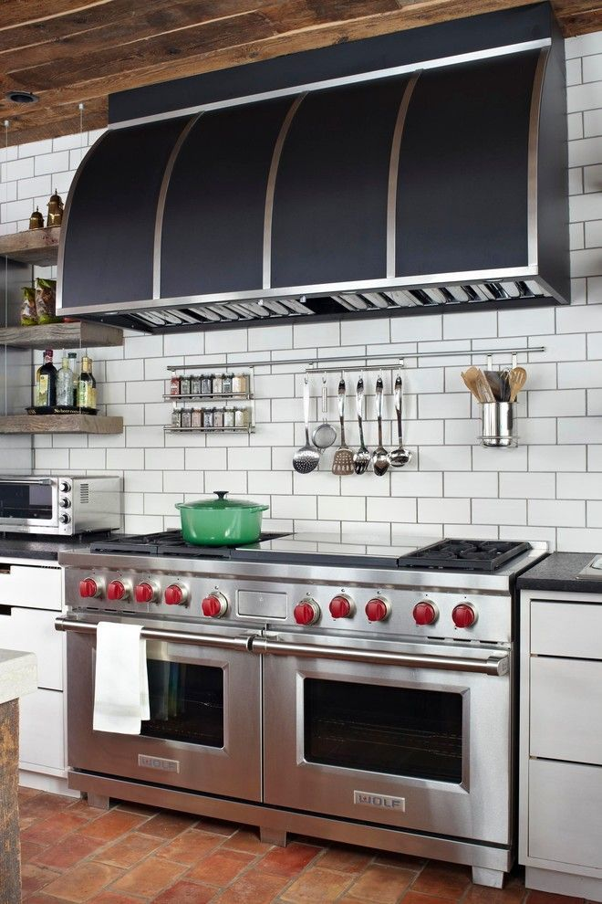 Superb hanging spice rack in Kitchen Transitional with Spice Rack next to Cooktop Above Oven alongside Built In Toaster Oven and Oven Underneath Cooktop #RangesKitchen