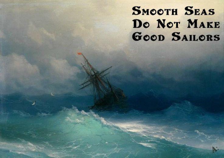 Smooth Seas Do Not Make Good Sailors On Ivan Konstantinovich Aivazovskys Painting -4390