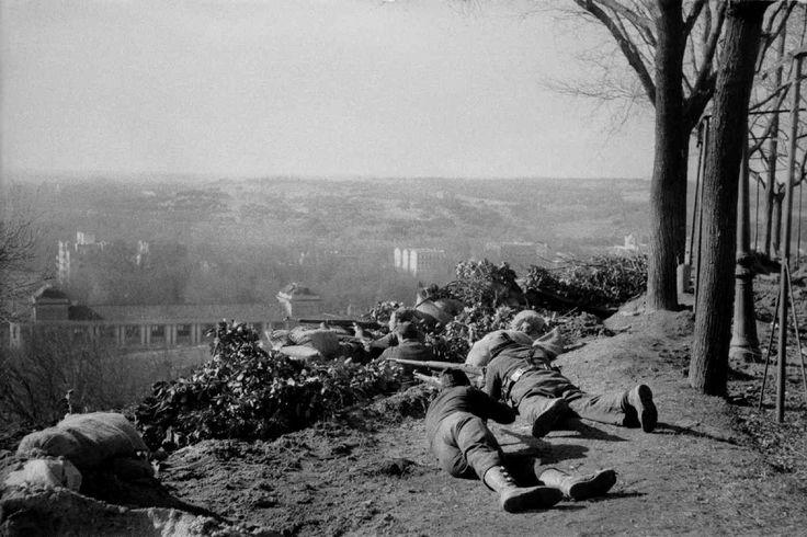 Paseo de Rosales, combates desde las trincheras, Madrid, diciembre de 1936.