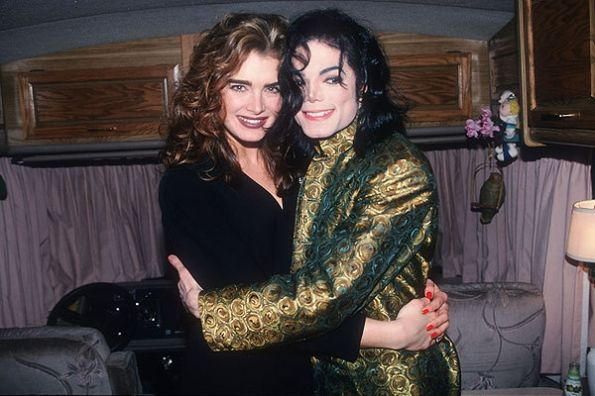 MJ and actress Brooke Shield at the Sony Music Party after the 1993 Grammy Awards show Century City, Los Angeles February 24 1993  | Curiosities and Facts about Michael Jackson ღ by ⊰@carlamartinsmj⊱