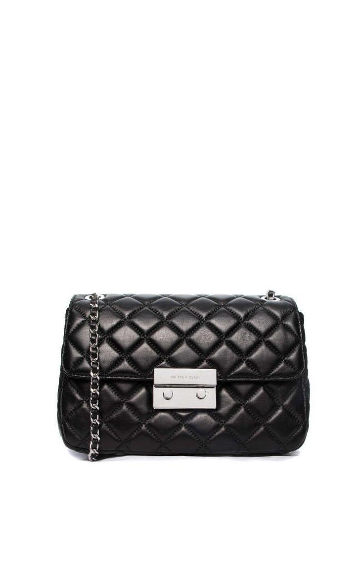 Väska Sloan LG Quilted Chain BLACK/SILVER - Michael - Michael Kors - Designers - Raglady