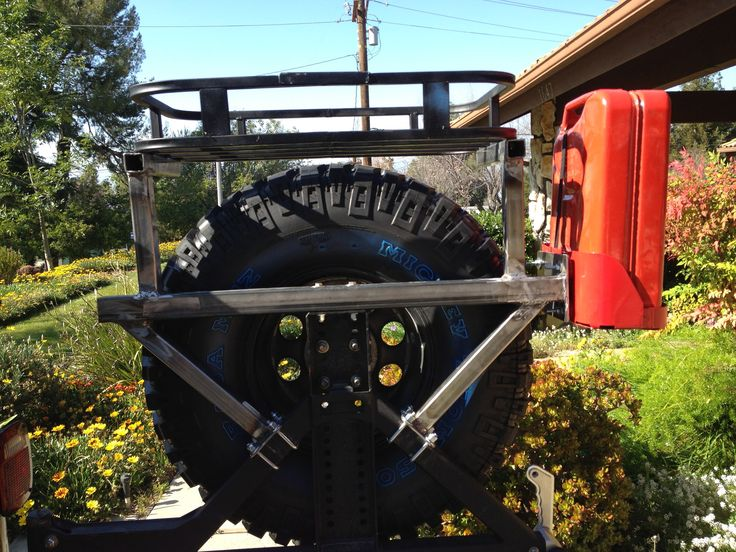 Diy Spare Tire Rack I Dream Of Jeeping Tire Rack Jeep