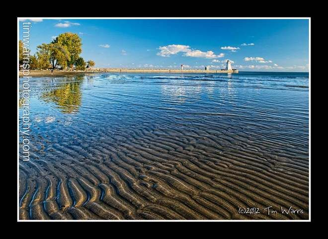Washboard Beach, Port Dover, Ontario, Canada.  Photographed by Tim Warris on October 12/2012.