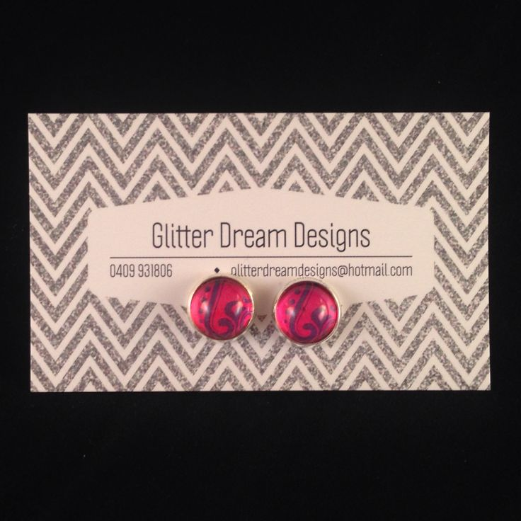 Order Code A6 Pink Cabochon Earrings