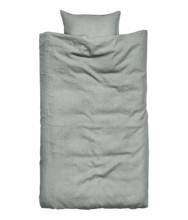 Washed linen twin duvet cover and pillow case from H&M