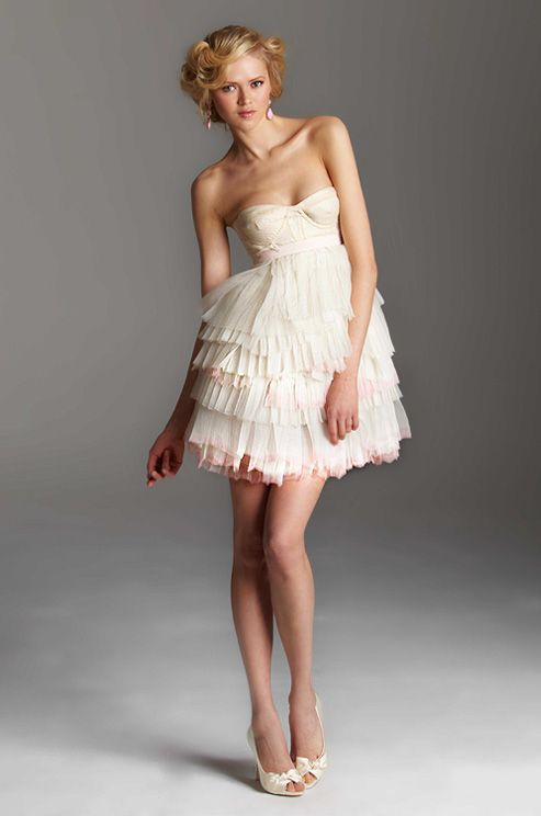 A short #wedding dress from Rafael Cennamo, Holiday/Spring 2013
