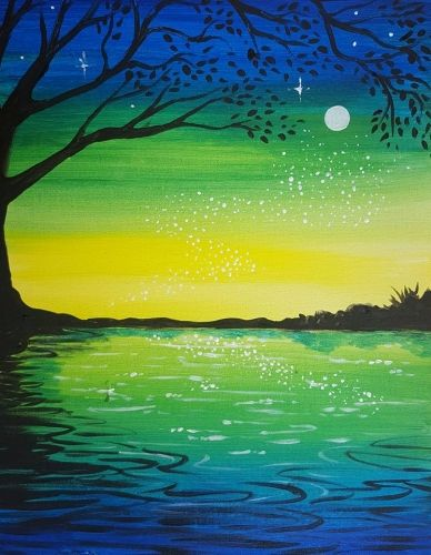 Fairy Lake at Cafe Ponte - Paint Nite Events near Portland, OR>