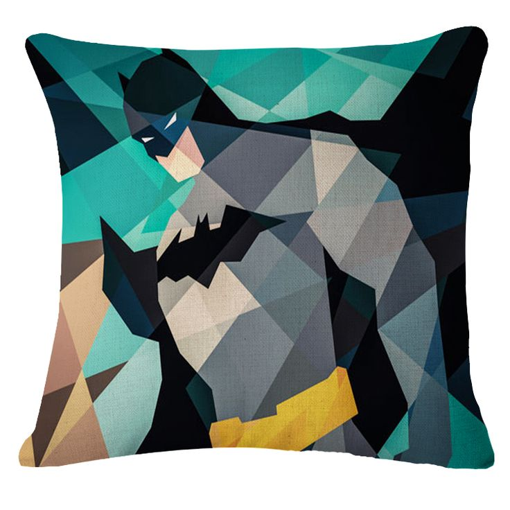 Geometric batman throw pillow #superhero decor