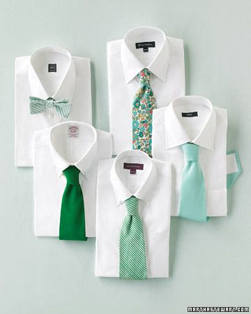 since there's going to be so many dudes in the wedding party, this might be a fun idea (not necessarily these colors)