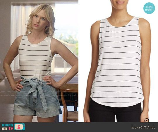 Melissa's striped tank top on Last Man on Earth. Outfit Details: http://wornontv.net/54298/ #LastManOnEarth
