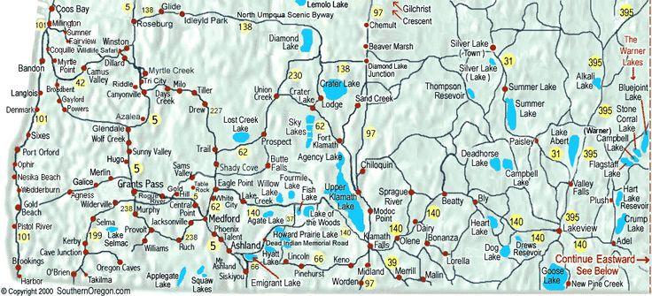 Lake Oregon Map Images Crater Lake America Us Places You - Map of oregon lakes