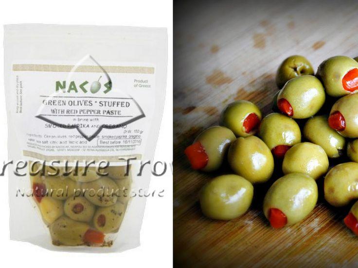 """Отменные греческие оливки, фаршированные пастой красного перца """"Накос"""", копченой паприкой и орегано станут незаменимым атрибутом праздничного новогоднего стола http://eda-eko.ru/index.php?ukey=product&productID=1146! Вы непременно оцените их пикантный вкус! В нашем магазине представлены также другие разновидности фаршированных оливок, вы обязательно найдете среди них свой!  Спешите сделать заказ на сайте нашего магазина eda-eko.ru или напрямую у менеджера Viber, What's app - +79036832611"""