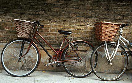 Vintage bicycles in Cambridge