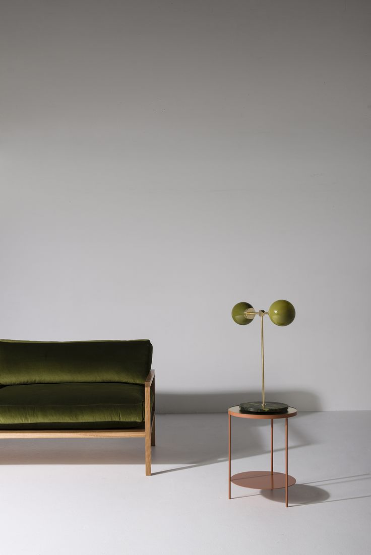RD Sofa upholstered in Moss Green velvet