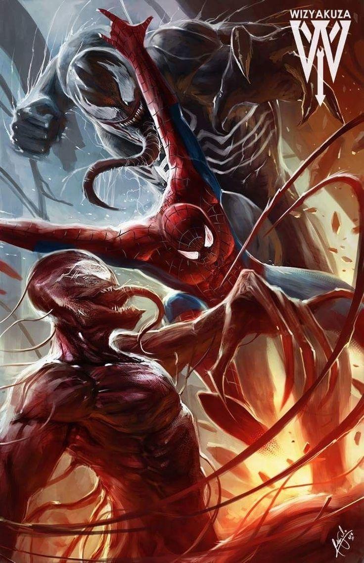 50 ilustraciones de Carnage, el enemigo más brutal de Spidey
