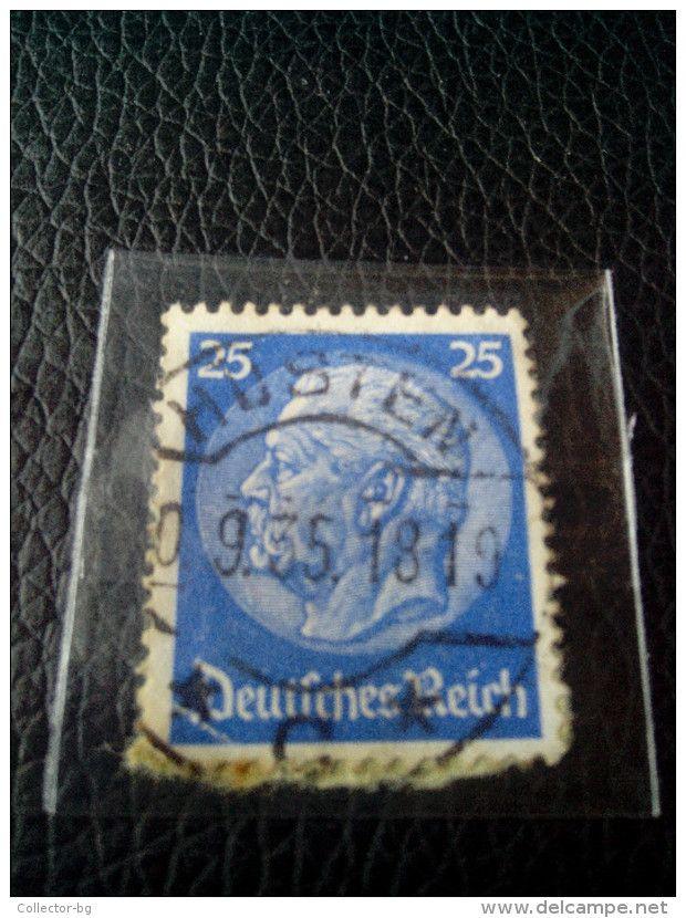RARE 25 PF DEUTSCHEN REICH Reichspresidents  Paul Von Hindenburg German Stamp 1935 ON PAPER COVER USED - Germany