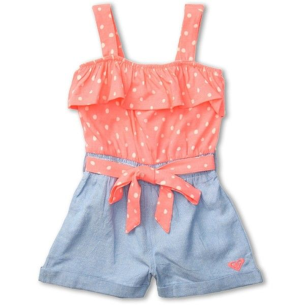 Roxy Kids Summers Dream Romper (Toddler/Little Kids) ($38) ❤ liked on Polyvore