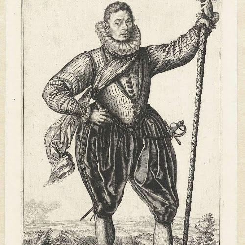 Kapitein van de infanterie, Hendrick Goltzius, 1583 - Rijksmuseum