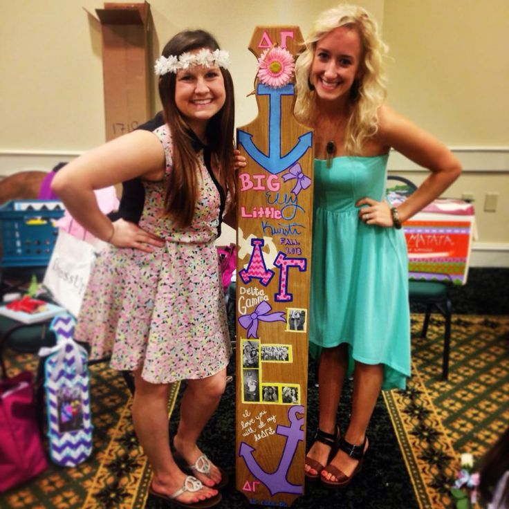 5 ft tall paddle for my Big! Delta Gamma Initiation <3 sorority ...