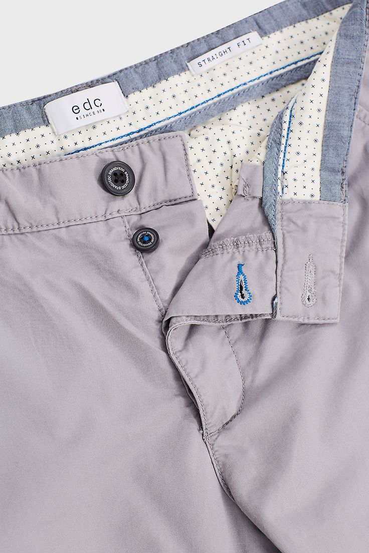 edc - Twill chinos in 100% cotton at our Online Shop