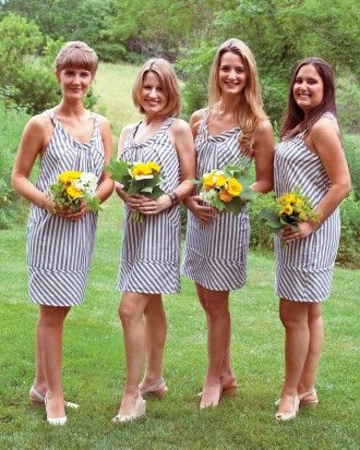 """See the """"The Bridesmaids"""" in our A Nautical-Inspired Blue-and-White Wedding on a Farm in Massachusetts gallery"""