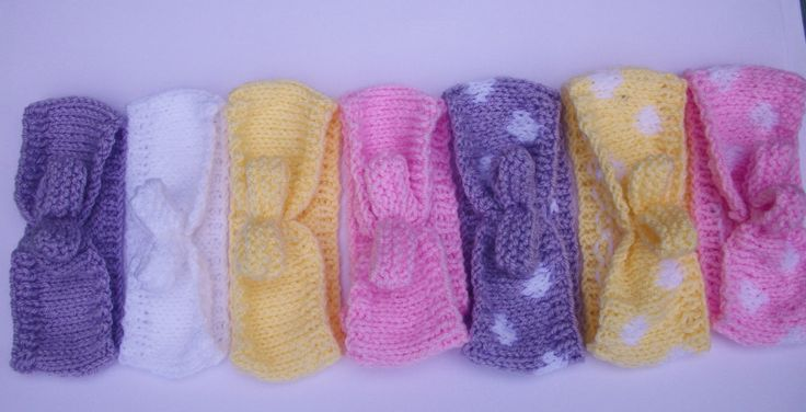 Hand Knitted Baby Rockabilly Hairband, £3.99