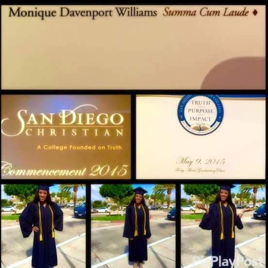 Celebrate the Graduation of Pastor Monique Davenport from San Diego ...