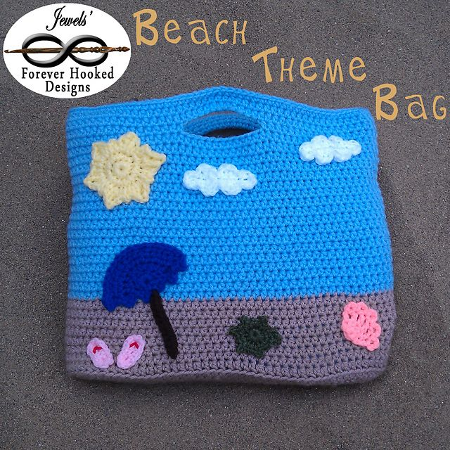 Ravelry: Beach Theme Bag (with appliqués) pattern by Jewels' Forever Hooked Designs