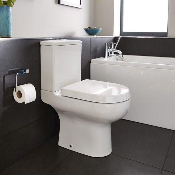 Cityspace close coupled WC inc soft-close seat