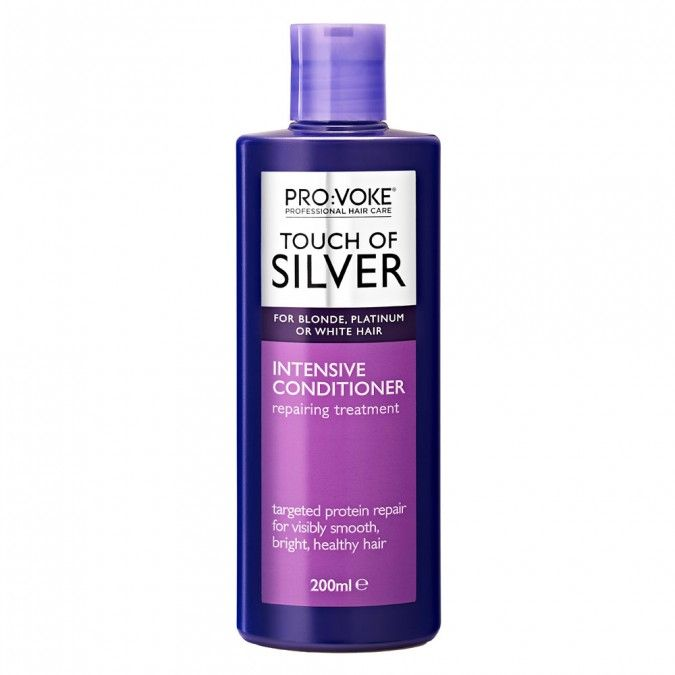Touch Of Silver Intensive Conditioner intensively targets dry, damaged and coloured hair, leaving it visibly smoother, moisturised and healthy.