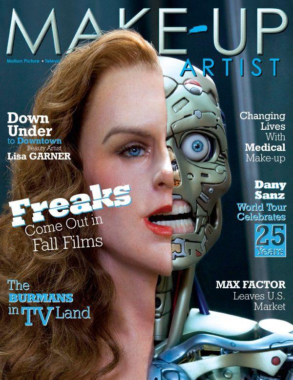Makeup Artist Magazine Make Up Special Effects Cyborgs Robots Covers Robotics Robot