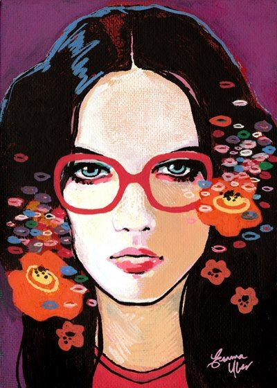 Emma Uber, Le fleur, flowers in her hair