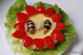 Bees collect pollen