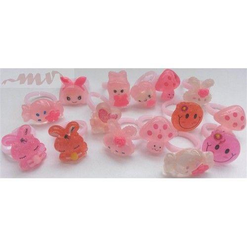Inele reglabile din plastic pentru fetite