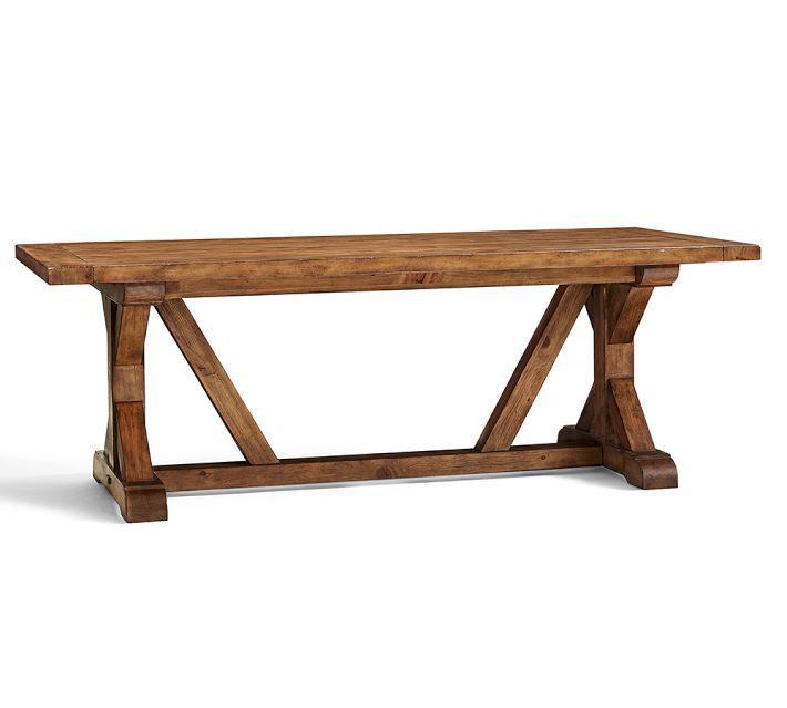 decor look alikes pottery barn wells extending dining table 1699 vs. Black Bedroom Furniture Sets. Home Design Ideas