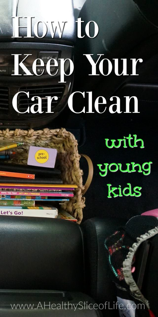 how to keep your car clean with young kids. I can't tell you what a more peaceful place this has made my car. The kids even seem to like the order and cleanliness more!