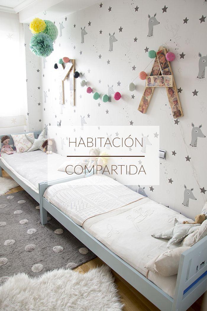 M s de 25 ideas fant sticas sobre habitaciones compartidas - Habitaciones pintadas para ninos ...