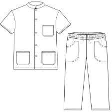 Resultado de imagem para moldes de uniformes de enfermeria gratis