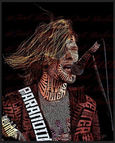 Kurt Cobain Typography Portrait by lilysmom85.deviantart.com on @DeviantArt