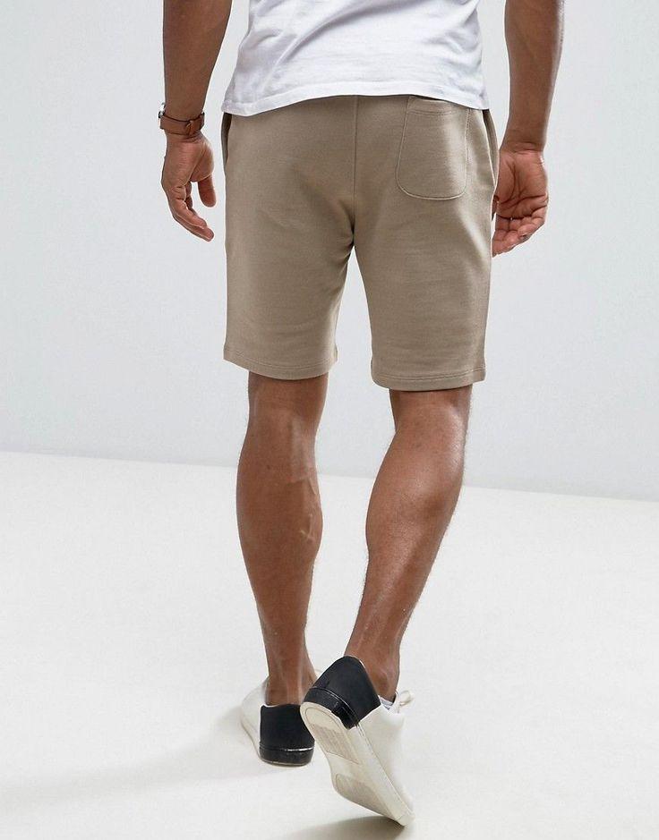 ASOS Jersey Skinny Shorts In Beige - Beige