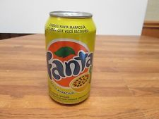 2015 Fanta sabor maracuja' (flavor fruit passion) soda can. Hard to Find.