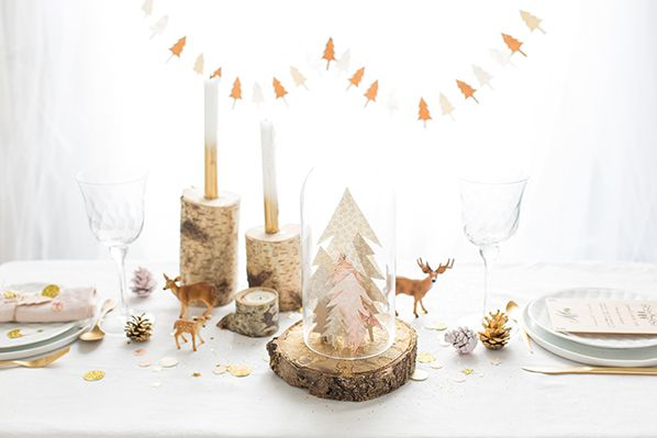 Enchanted forest Christmas table