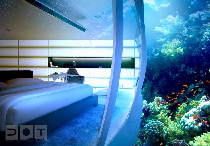 The Water Discus Hotel in Dubai - Not yet open, designed by Deep Ocean Technology.  Ariel might choose to never leave.