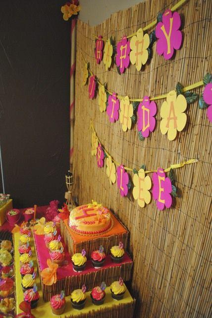 Photo 1 of 23: Hawaiian Luau / Birthday Brylees Birthday Luau | Catch My Party