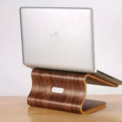 [Visit to Buy] Samdi wooden laptop cooling stand high quality wooden stand for Apple Macbook for HP and other laptop article design stand #Advertisement