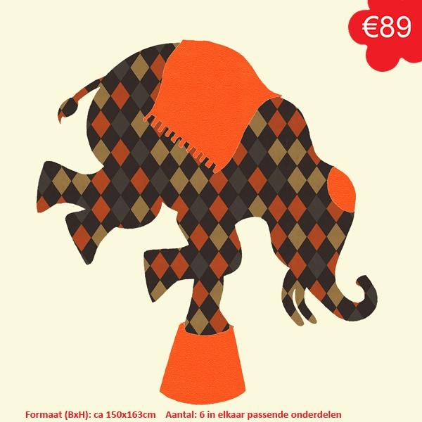 #behangfiguur #circus #olifant