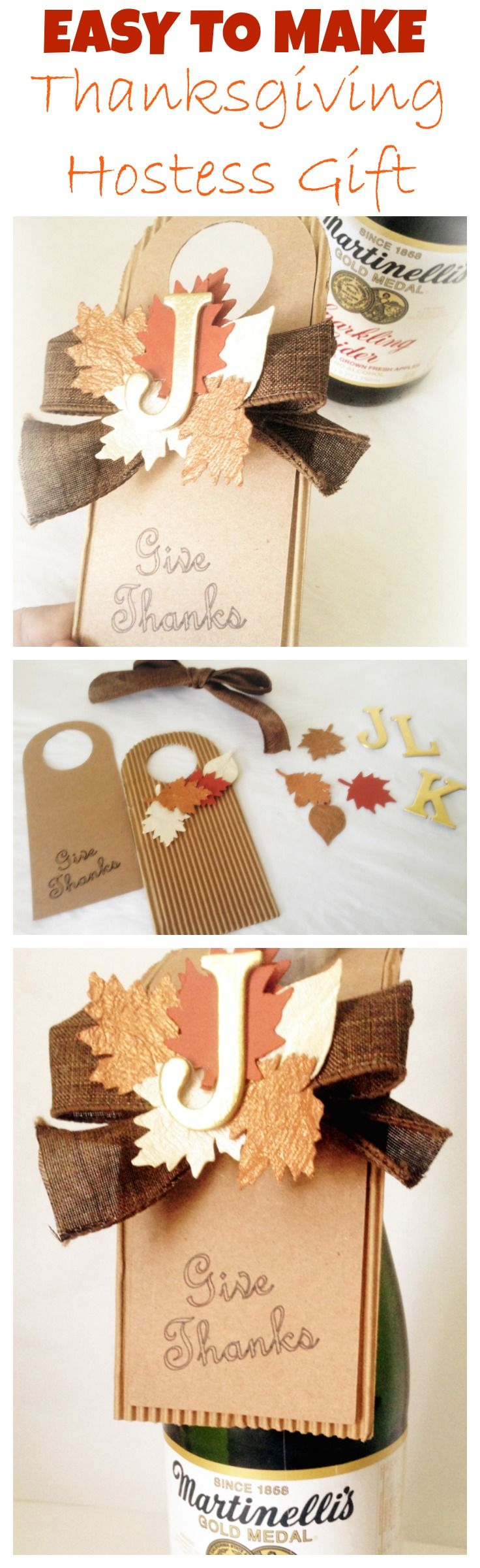 Quick and Easy Thanksgiving Hostess Gift Idea. DIY